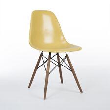 Ocre Herman Miller Vintage Original Eames Dsw comedor silla lateral Shell