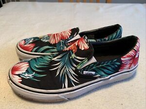 Women's Vans Floral Slip On Skate Trainers Size Uk 6.5
