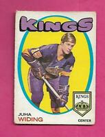 1971-72 OPC  # 86 KINGS JUHA WIDING  ROOKIE GOOD CARD  (INV# C7595)