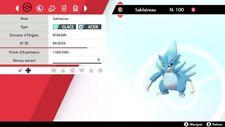 Pokemon Sablaireau alola shiny 6IV + masterball - Battle Ready - Epée/Bouclier