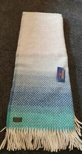 Tweedmill 100% Wool Sofa Bed Throw Blanket SEASIDE BLUE 130 x 200 cm