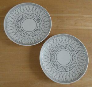 "Royal Doulton Ellen Degeneres 6.25"" Charcoal Grey Side Plates x 2 (B) (BNWOT)"
