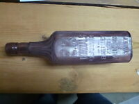 ANTIQUE AMYTHTHYST E.K. CORDIALS MELB. & SYDNEY BOTTLE