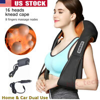 Electric Neck Shoulder 3D Deep Kneading Shiatsu Massager with Heated Pain Relief