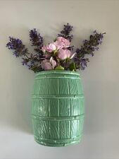 More details for vintage wall pocket posy holder ceramic country cottage retro dartmouth green