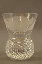Edinburgh Scotland Cut Crystal Engraved Thistle Pattern Shot Glass