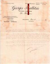 Document du 31/08/1917 GEORGES KALLITSIS Affaires maritimes - Le Pirée GRECE