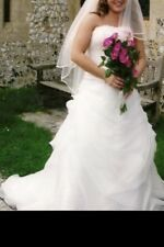 Two Piece Wedding Dress, Vail And Shoes  12/14 Shoes Size 6.
