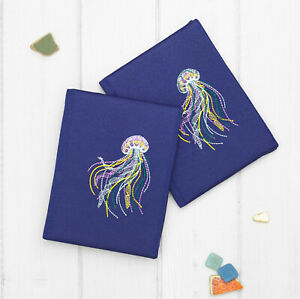 Jellyfish Embroidery Velour Cover Case for PocketBook InkPad Color Pro 3 Lux 4 5