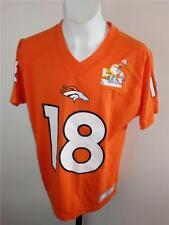 New-Flawed Denver Broncos #18 Peyton Manning Youth M Medium 10/12 Jersey