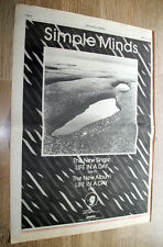 SIMPLE MINDS - LIFE IN A DAY - ORIGINAL VINTAGE ADVERT POSTER 1979 16 X 11