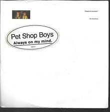 """45 TOURS / 7"""" SINGLE--PET SHOP BOYS--ALWAYS ON MY MIND / DO I HAVE TO"""