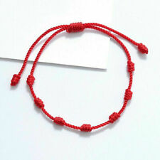 2020 Lucky Red String bracelet Kabbalah Amulet 7 Knots Protection Rope Jewelry