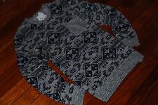 NEW Men's On the Byas Grayscale Nordic Aztec Light Sweatshirt (Large)