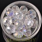 New 3pcs 18mm Big Crystal Glass Rondelle Faceted Loose Spacer Beads Clear AB