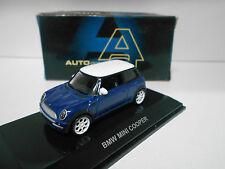 MINI COOPER BLUE AUTOART 1/64