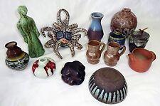 12+1x Pc International Small Art Pottery Mixed Lot Miniatures (Gem)