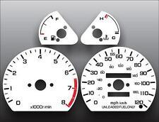 1985-1987 Honda Civic CRX Si Dash Instrument Cluster White Face Gauges
