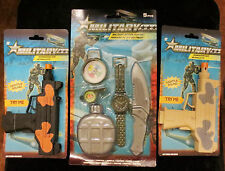 Military Machine Guns Toys Set + Knife, whistle, compass, Watch, Canteen Kids