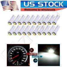 10x White T5 74 85 70 Instrument Panel Dash Light LED Bulb & PC74 Twist Sockets