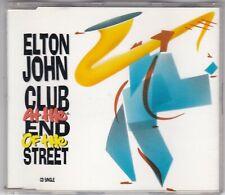 ELTON JOHN - CLUB AT THE END OF THE STREET - 3 TRACK MAXI CD PHONOGRAM ROCKET