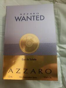 Azzaro Wanted Eau De Toilette Sample 1.2 ml  /.04 oz New Men`s Cologne Fragrance