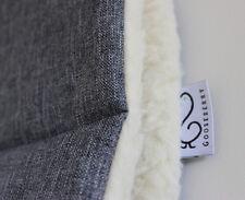 PRAM LINER GOOSEBERRY Natural Lambs Wool Universal Reversible Machine Washable
