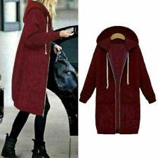 Womens Oversize Sweater Tops Coat Hoodie Wool Jacket Cardigans Outwear 5XL