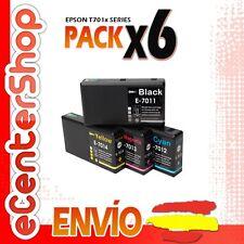 6 Cartuchos T7011 T7012 T7013 T7014 NON-OEM Epson WorkForce Pro WP-4535DWF