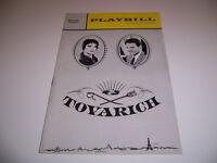 Aug 1963 MAJESTIC THEATRE PLAYBILL - TOVARICH - VIVIEN LEIGH JEAN PIERRE AUMONT
