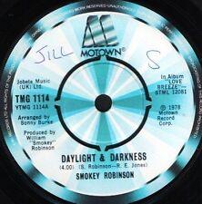"SMOKEY ROBINSON daylight and darknesswhy you wanna see my bad side 7"" WS VG/"