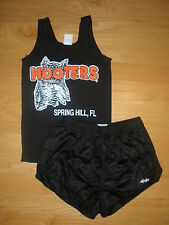 RARE HOOTERS UNIFORM TANK/DOLFIN SHORTS HALLOWEEN COSTUME L/XXL FLORIDA W/XTRAS