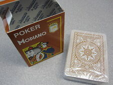 Modiano Italian Playing Cards Poker Game Deck 100% Plastic - ORANGE (PACK OF 12)