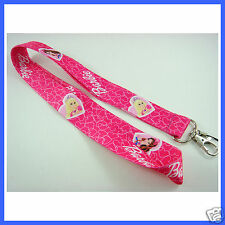 NEW Pink Beautiful Barbie Neck Lanyard Strap Cell Mobile Phone,ID Card,Key Badge