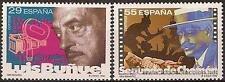 Spain  Edifil # 3277/3278 ** MNH Set  Cine Español / Cinema / Luis Buñuel