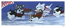 Siberian Husky, 'On The Run', Limited Edition Print, New release, Vic Bearcroft