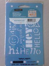 Fiskars Embossing Mini 4 x 6 ShapeBoss Stencil Set -What's Up 6638-New