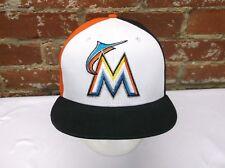 f2fb37395cef1 Miami Marlins MLB New Era 9Fifty 100% Cotton Small-Medium Snapback Cap Hat