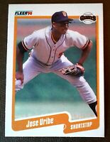 "1990 FLEER JOSE URIBE #74 ERROR CARD"" WRONG BIRTH DATE ON BACK MINT+ (E)"