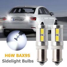 2x H6W BAX9s Sidelight  Xenon LED Bulbs Sidelight Parking Light White Bulbs Set