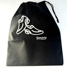 "Men Travel SHOE BAG Draw String Golf storage Non-Woven Fabric 16"" x 12"""