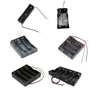 AA Battery Case Box Holder 1.5V 1X 2X 3X 4X AA Black Plastic storage Connector