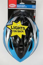 Bell Bicycle Helmet Child With Lights Ages 5-6 Blue, Silver and Black NWT