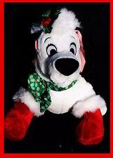 Disney Store Tag Lucky Holly Christmas 101 Dalamatian White Dog Plush Doll Soft