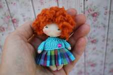 Pocket Doll for Kids with Autism, Miniature Handmade Fabric OOAK Doll