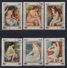 Manama 1970 used Mi.270/75 A Aktgemälde Nude Paintings Renior Kunst Art