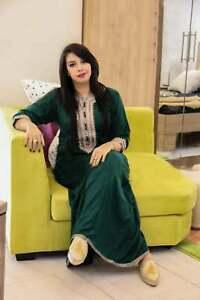 Moroccan caftan, embroidered kaftan loungewear abaya plus size elegance womens