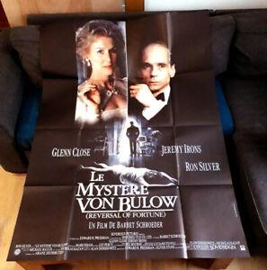 Le mystère Von Bullow - Jeremy IRONS / Glenn CLOSE - Affiche Cinéma