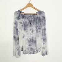 American Eagle Outfitters AEO Tie Dye Soft & Sexy Long Sleeve Top Key Hole M