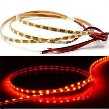 2pc Red 90leds 90cm Ultra Thin 4mm Width LED Casing Waterproof Strip Lights 12V